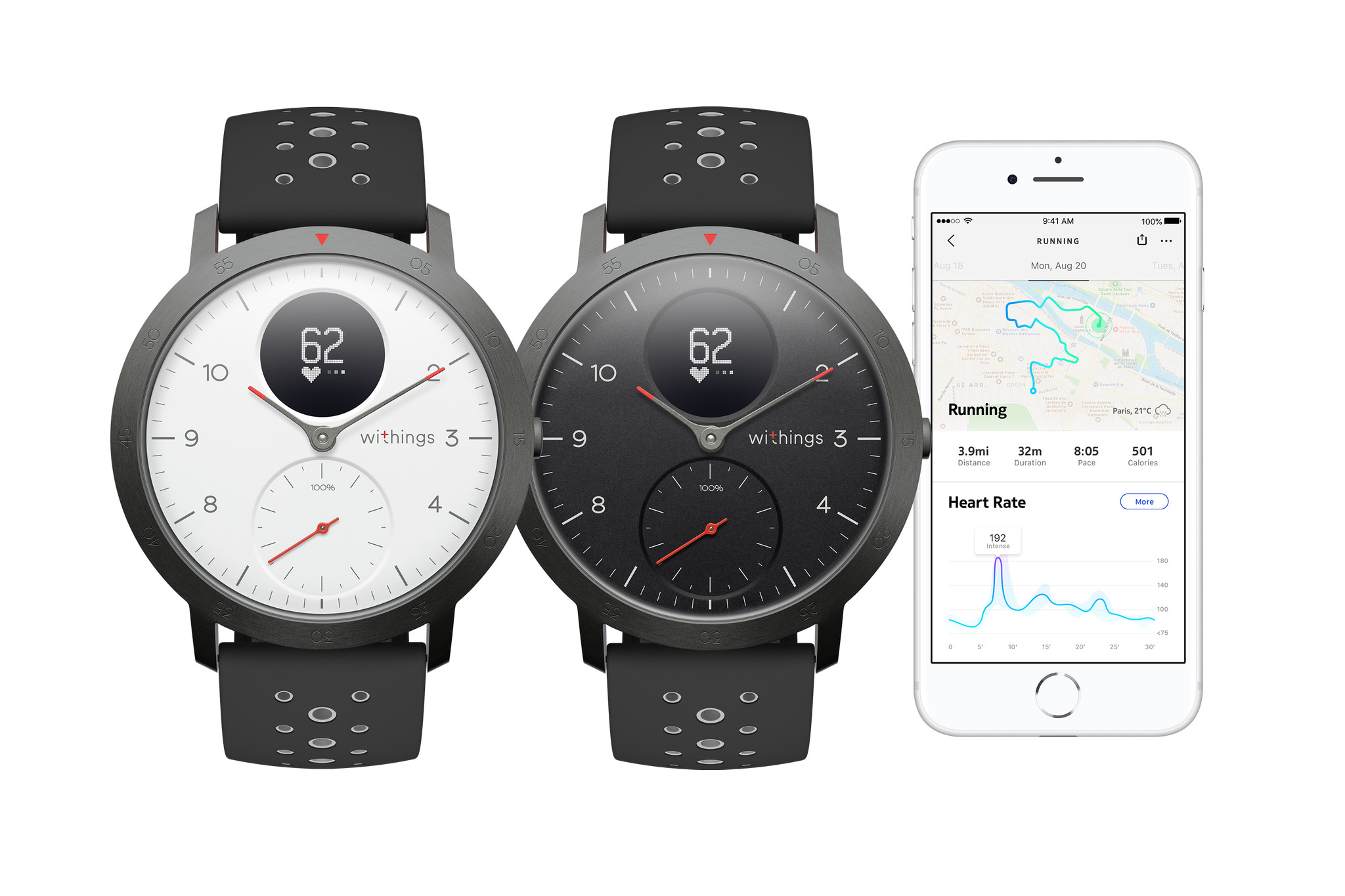 Withing's new Steel HR Sport is a hybrid fitness watch with Global Positioning System