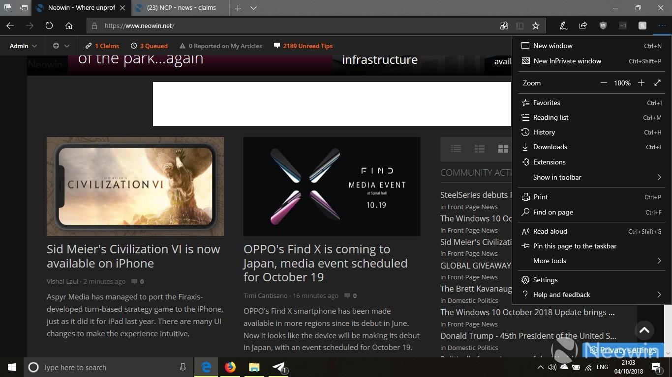 1809 Menu microsoft highlights what's new in microsoft edge in windows