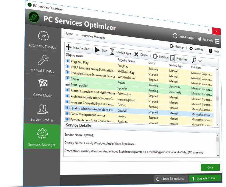 PC Services Optimizer