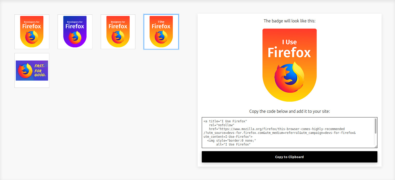 Mozilla launches new Firefox badges so you can evangelise