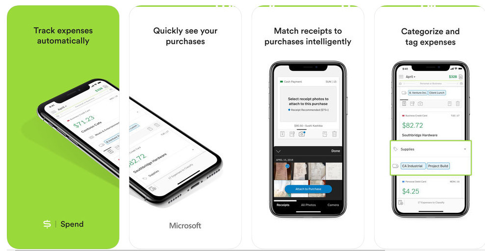 microsoft quietly launches expense tracker spend on the app store