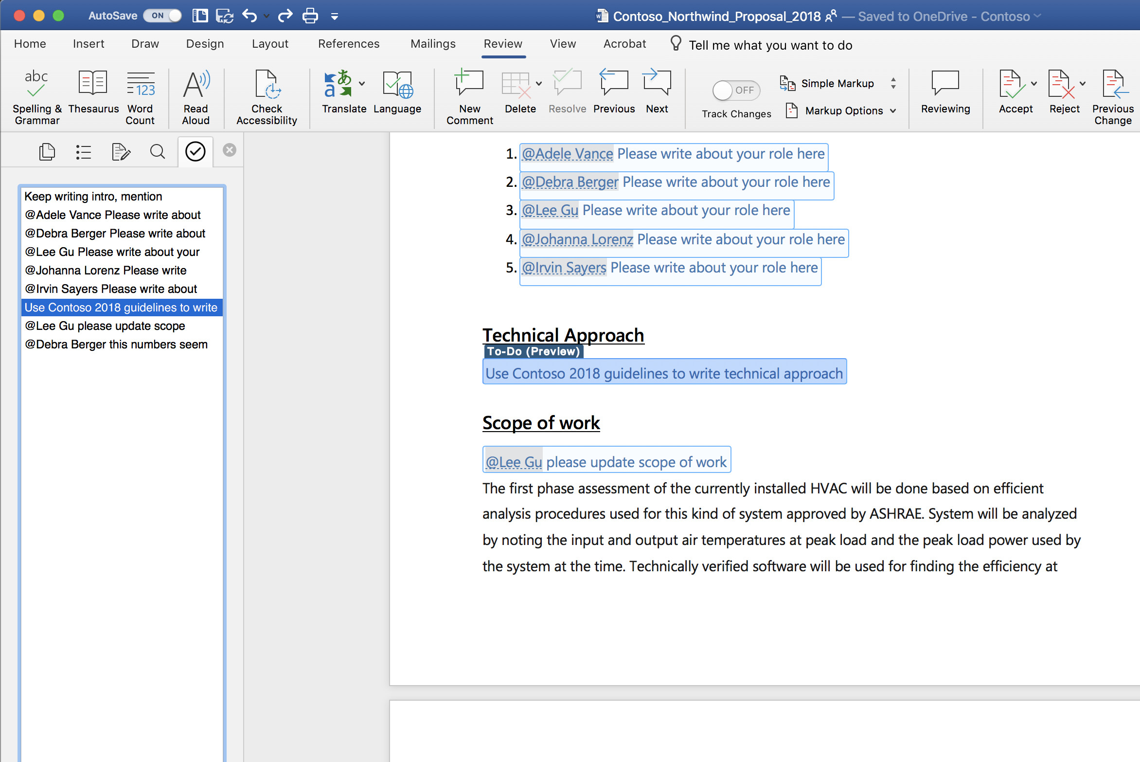 Microsoft rolls out a to-do feature for Word on Mac to Office