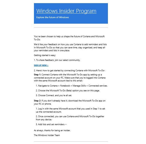 microsoft will soon let you add lists and reminders in to do with