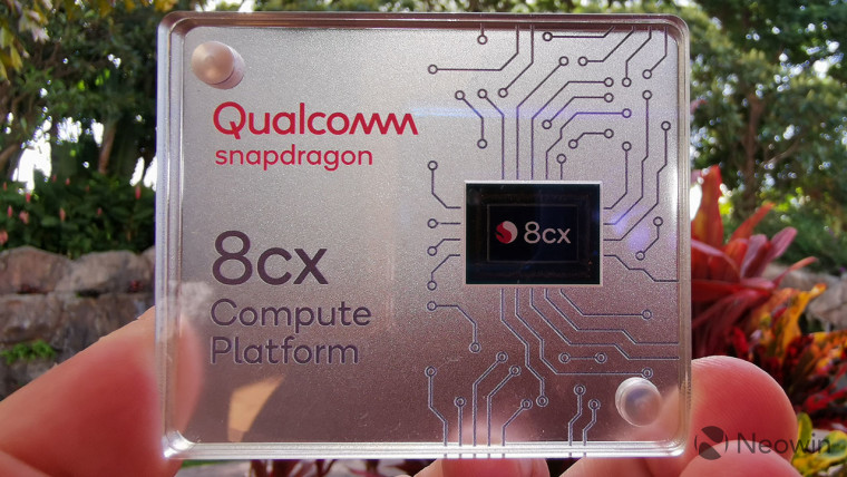 Snapdragon 8cx in glass case