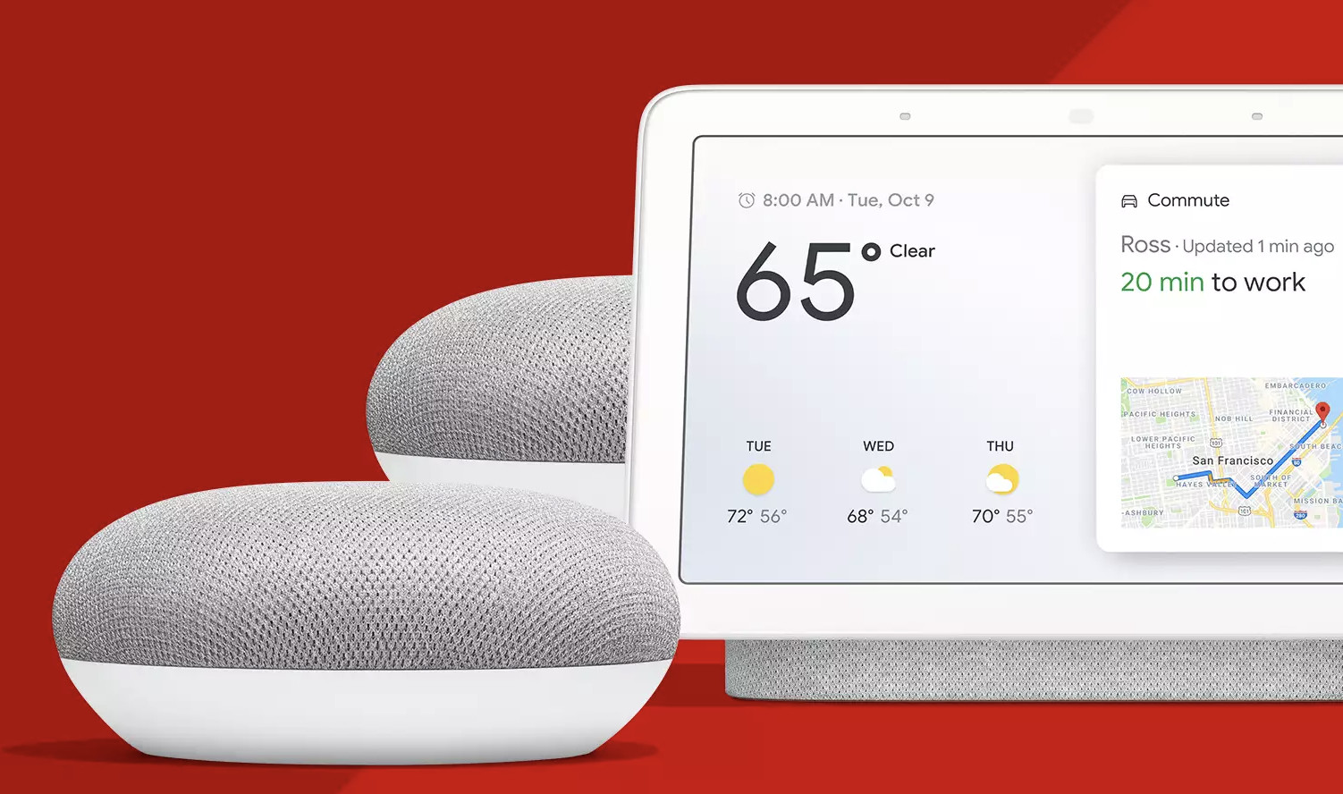 this google home hub bundle includes two free google home minis for