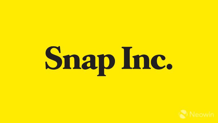 Snap Inc logo on yellow background