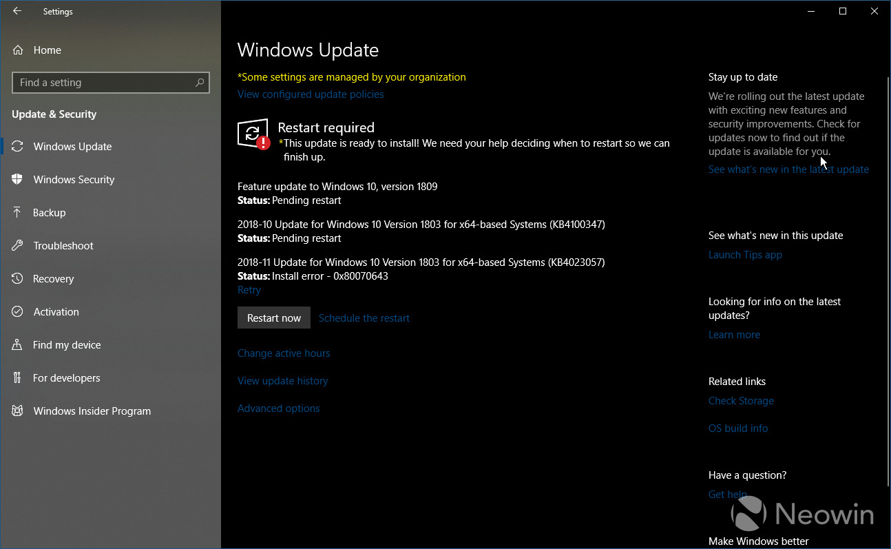Fix for Windows 10 failing to install KB4023057 update, because it is