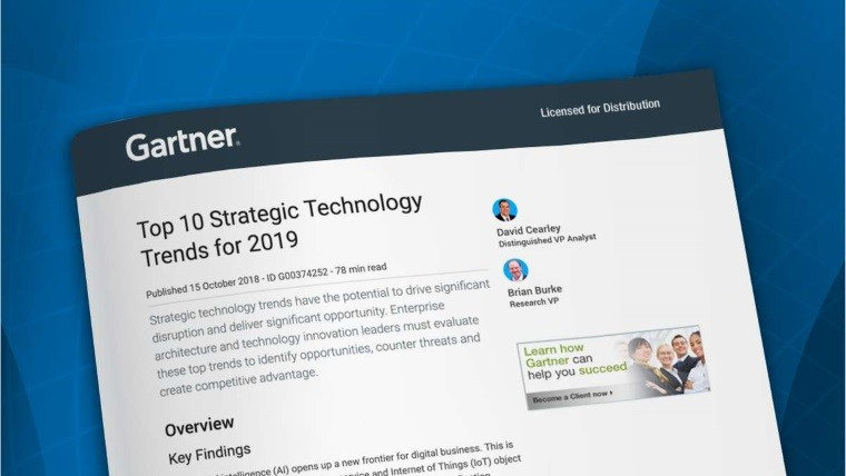 Gartner predicts the Top 10 Strategic Technology Trends for