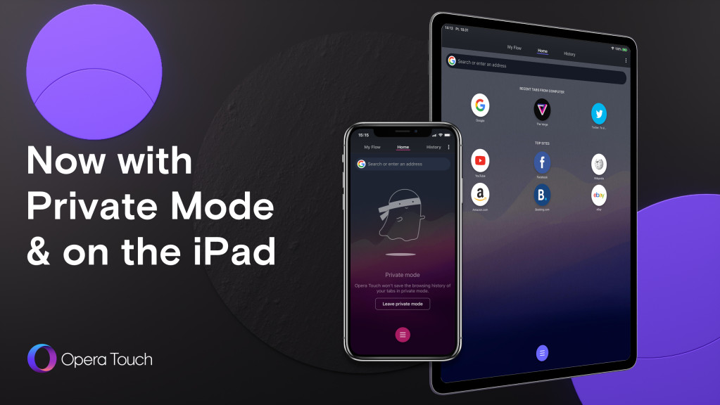 Opera Touch arrives on iPad, launches private mode on iOS - Neowin
