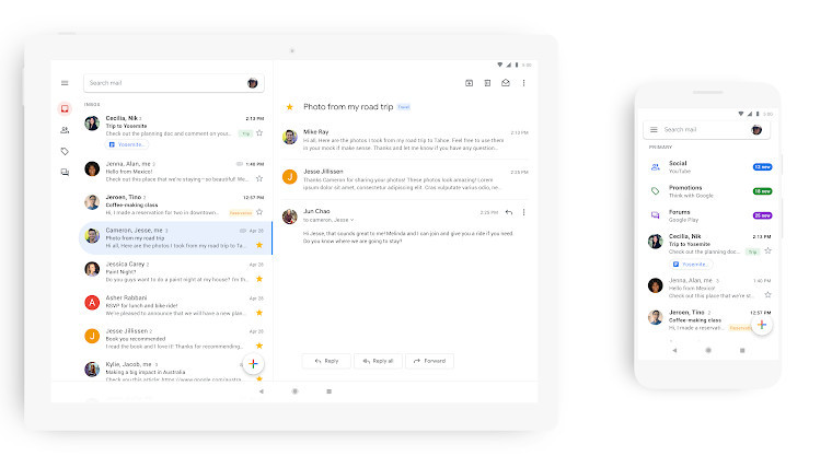 Google begins rollout of Gmail with Material Design on