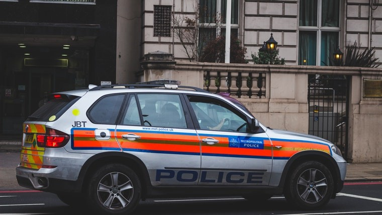 A UK police car