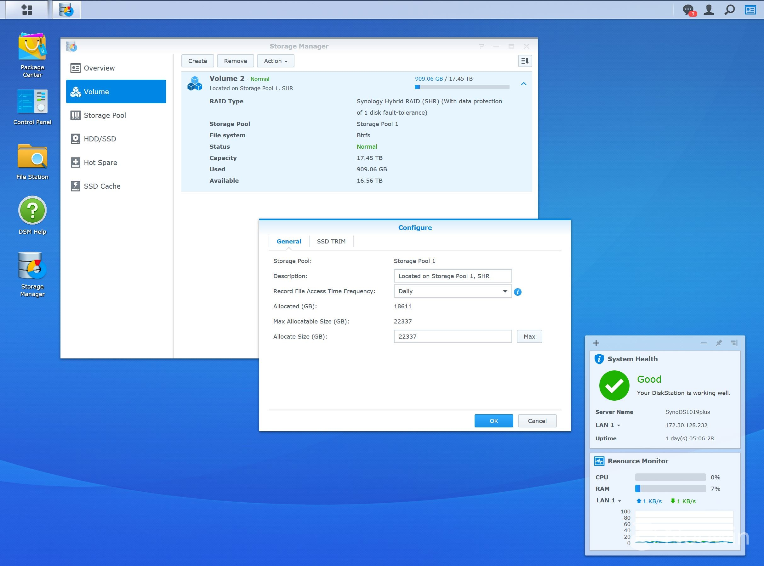 Review of the Synology DS1019+, a storage workhorse and a