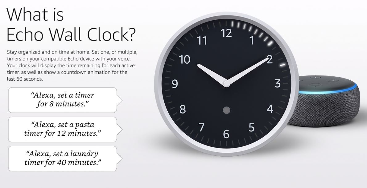 Amazon is once again selling its Echo Wall Clock