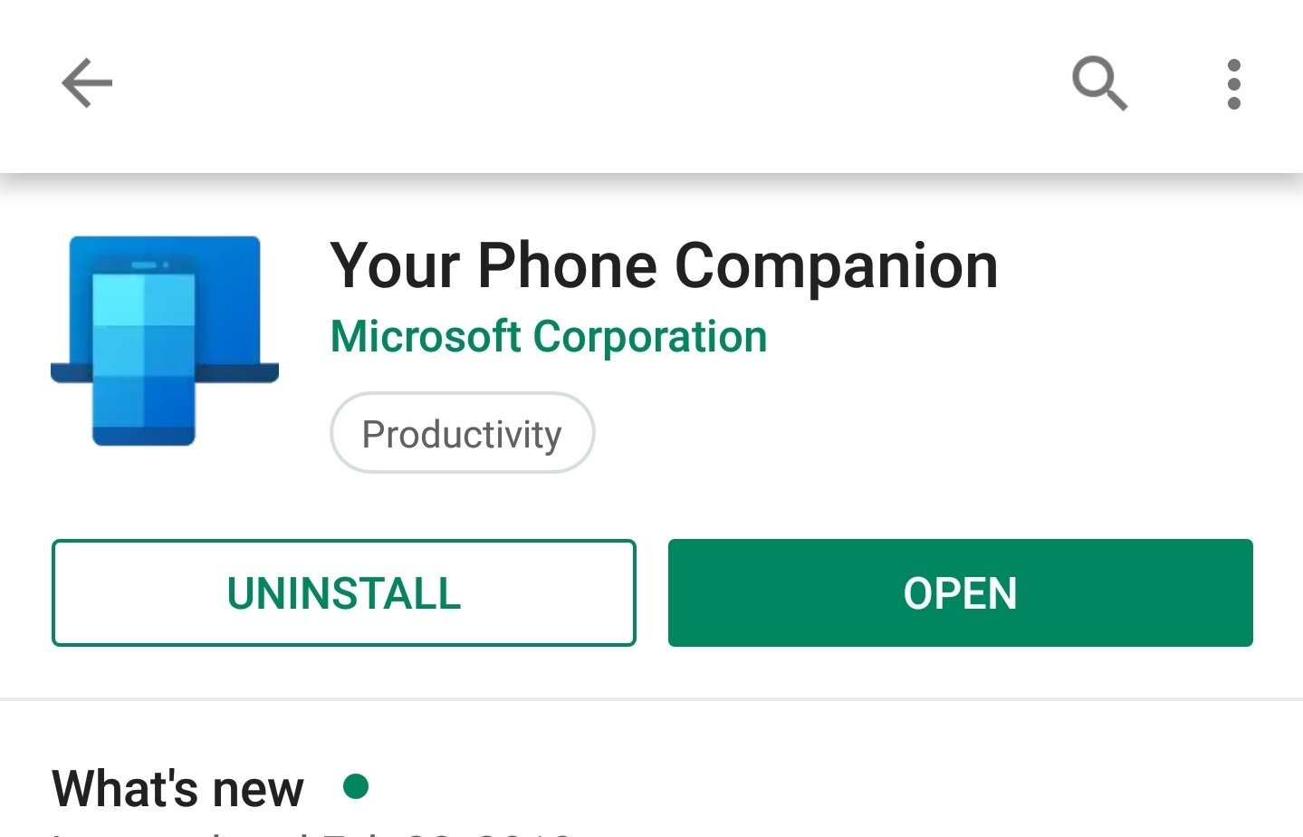 Microsoft's Your Phone Companion gets a new icon on Android