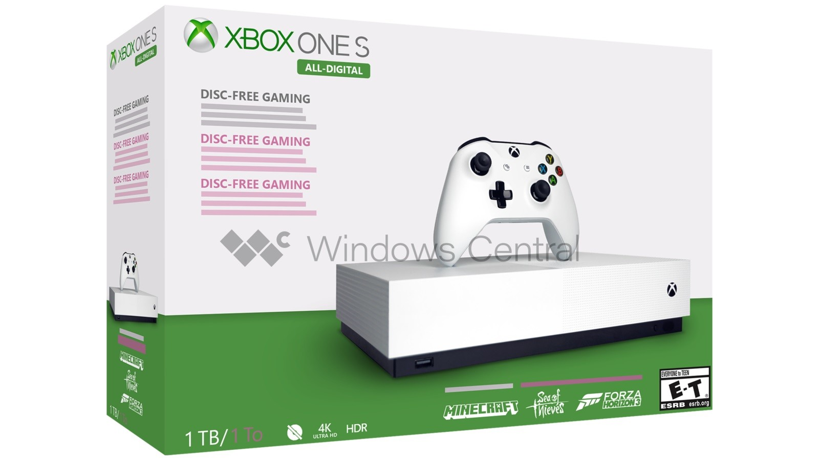 Images of the Xbox One S All-Digital Edition surface online