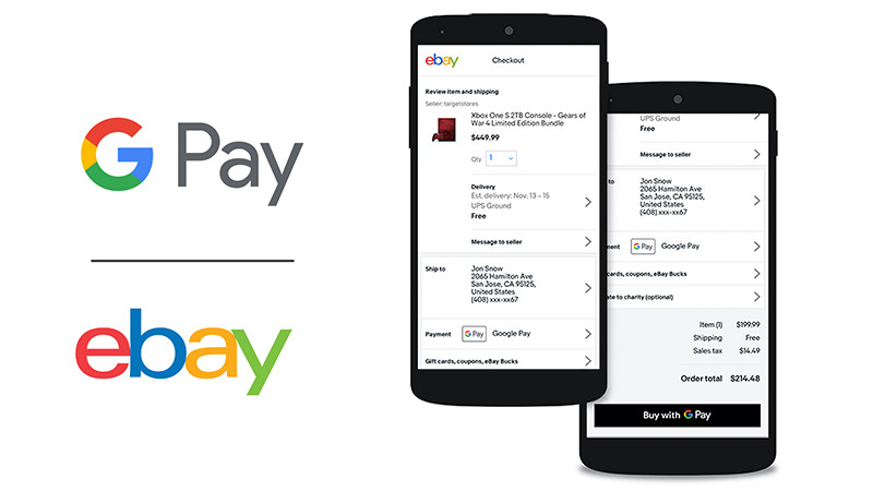 Google Pay is coming to eBay as a payment option beginning in April
