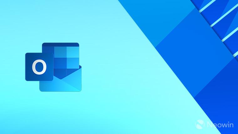 Outlook logo on a light blue background