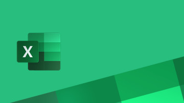 Excel logo with green background