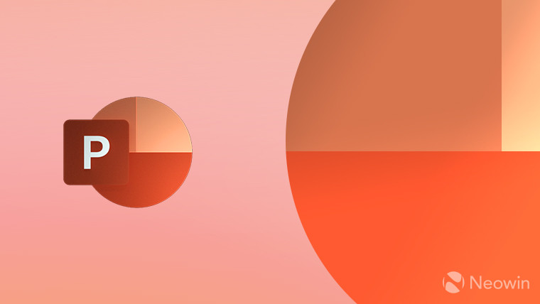 PowerPoint logo on a light orange background