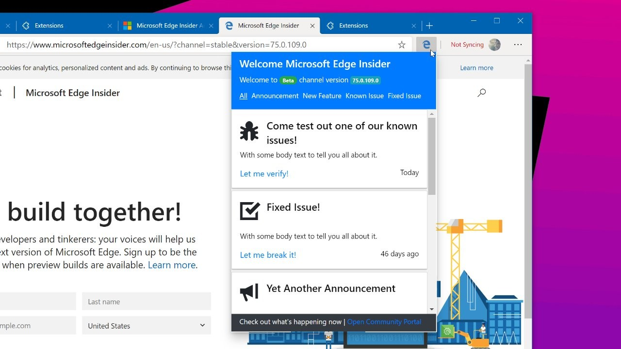 Edge Insider extension appears on Microsoft Store ahead of