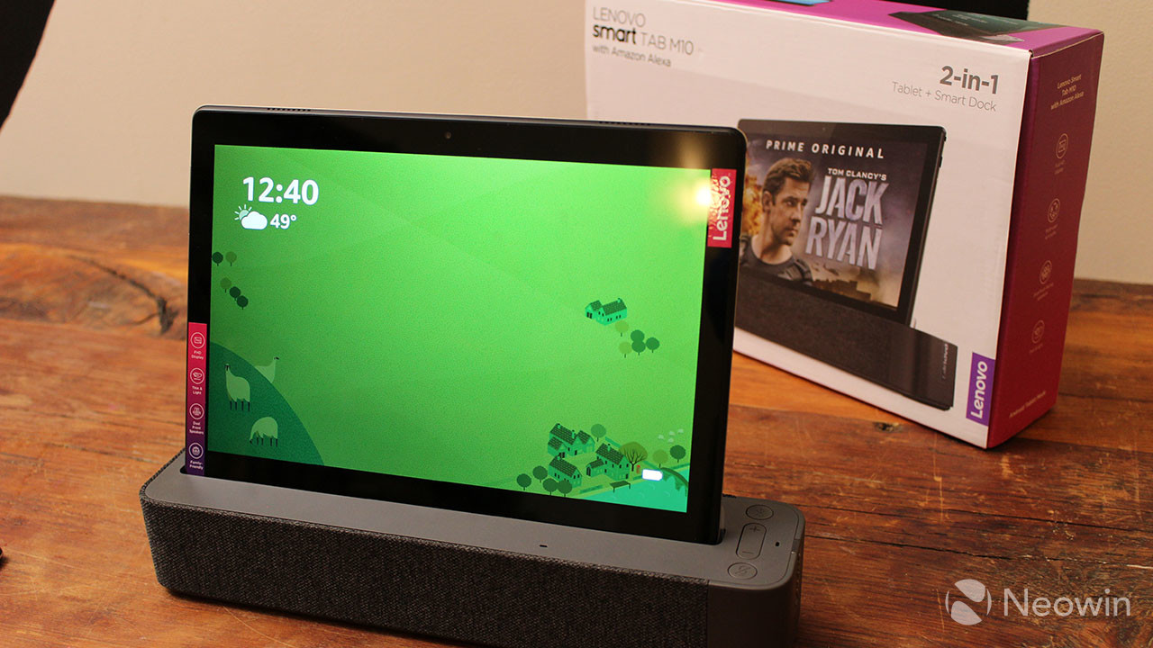 Lenovo Smart Tab P10 unboxing: A tablet that docks and turns