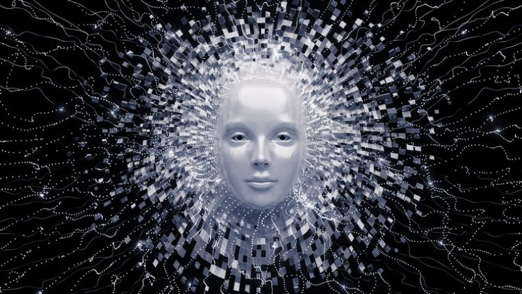 A face with lots of inbound neural network-like connections