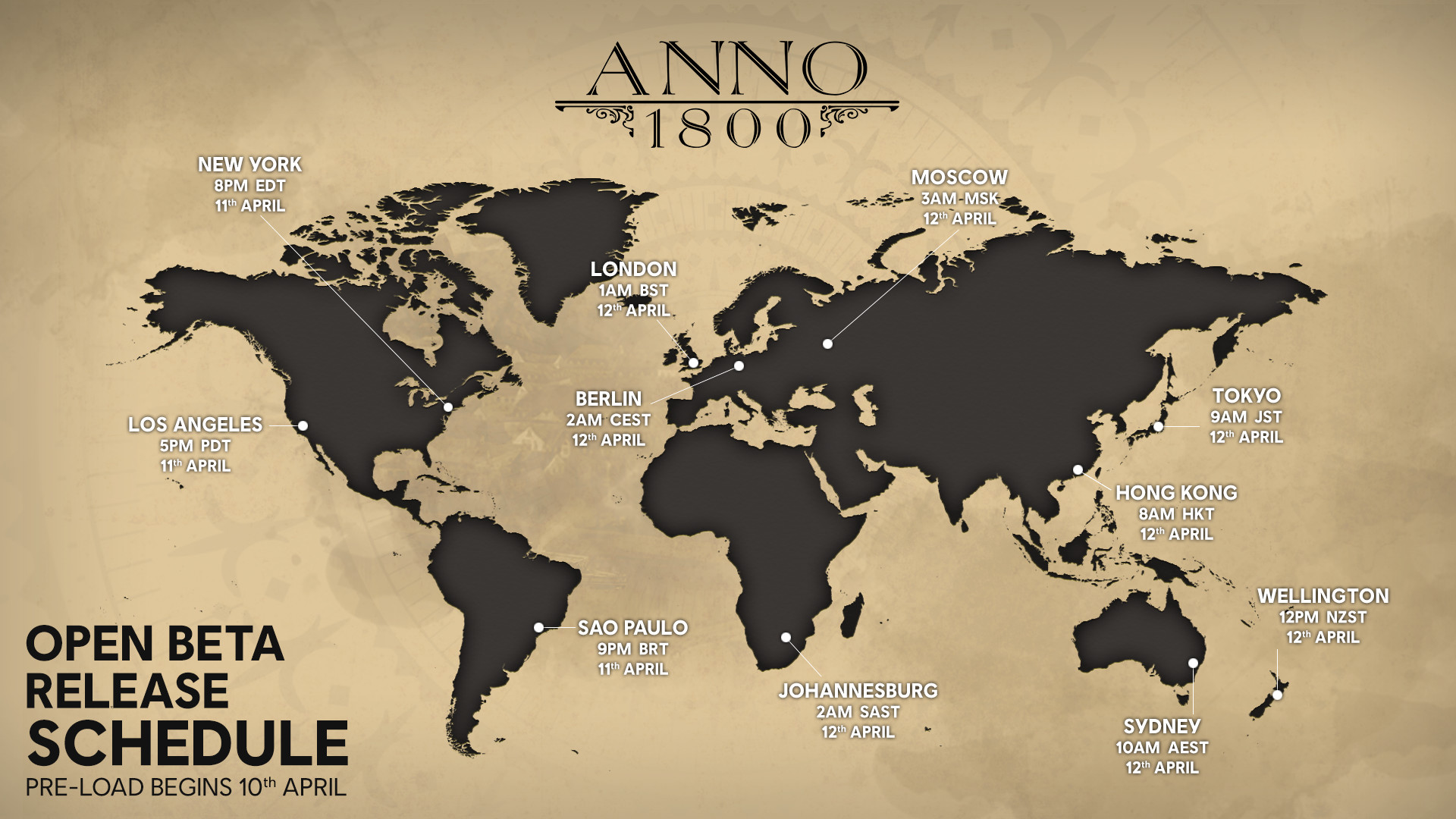 Preloading for the Anno 1800 open beta starts today, final system
