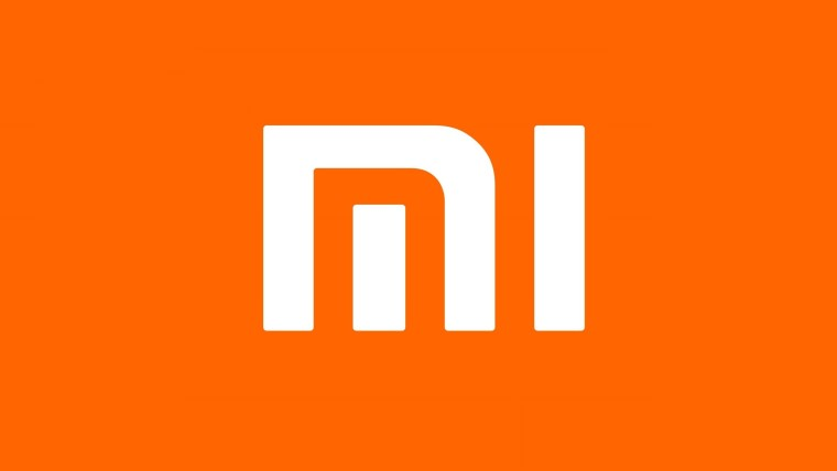 Xiaomi Mi logo on an orange background