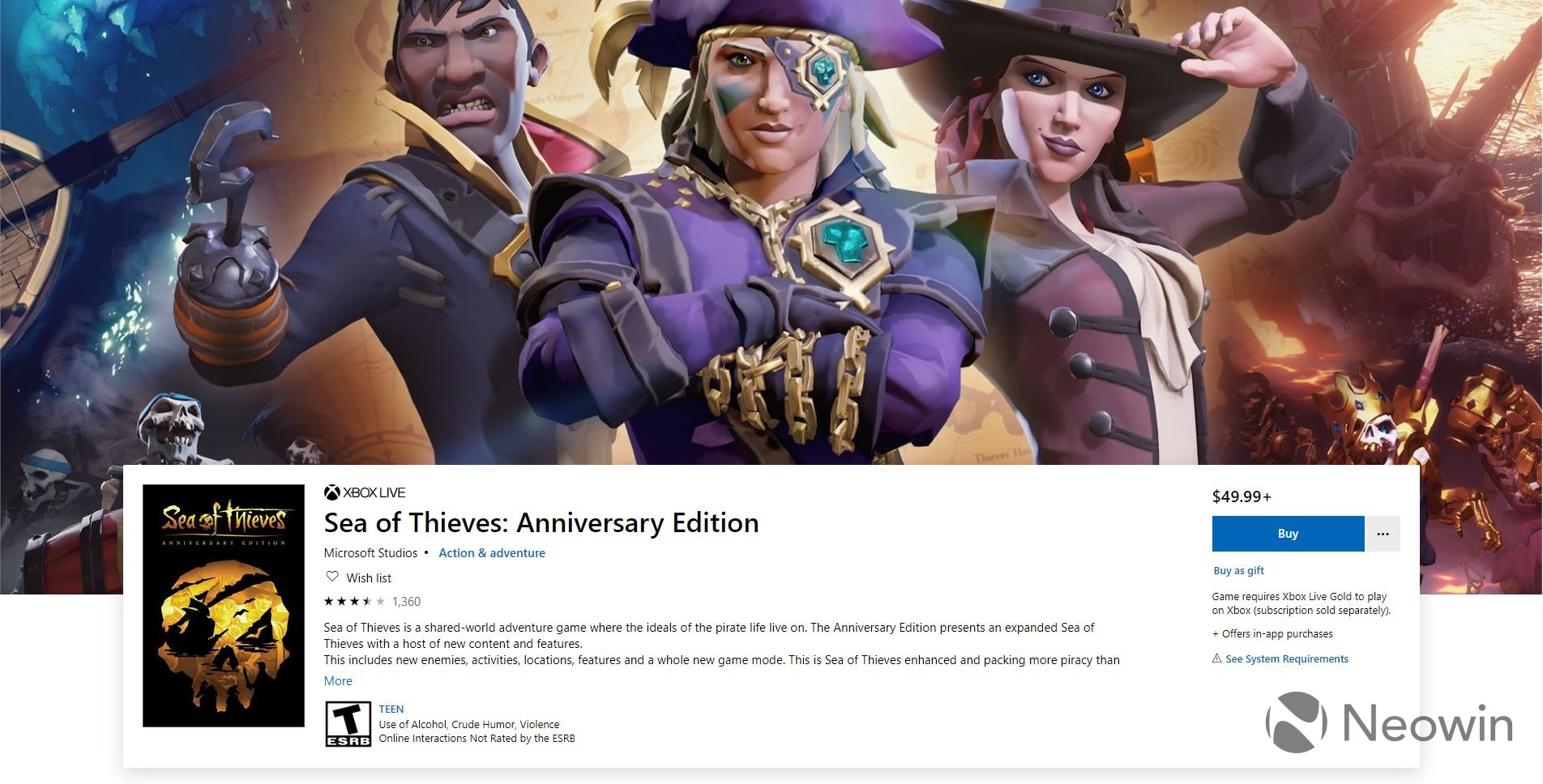 Microsoft accidentally reveals Sea of Thieves: Anniversary