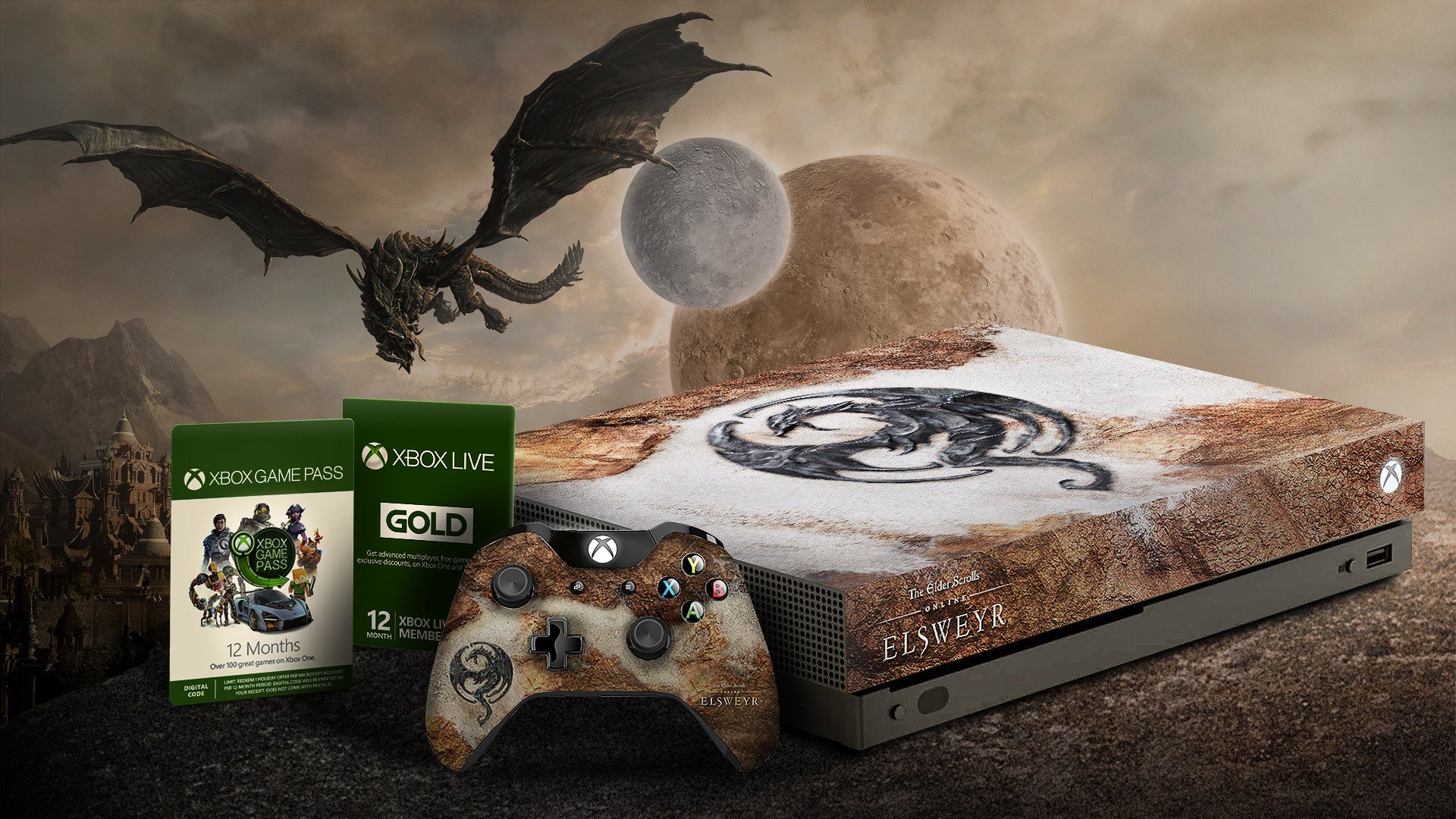 You can win an Elsweyr Xbox One X, a year of Game Pass and Xbox Live