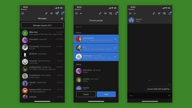 Aplicativo Xbox para Android e iOS com mensagens aprimoradas 1