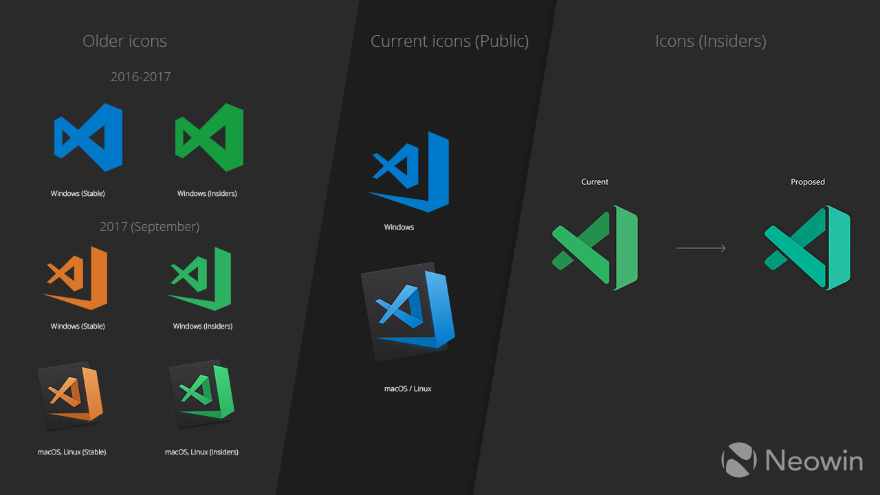 Get your Excel out of my Visual Studio: tweaked VS Code icons now in