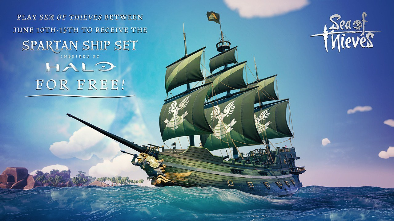 Play Sea of Thieves this week to get Halo-themed ship