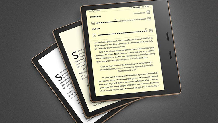 Amazon's new Kindle Oasis lets you adjust the color