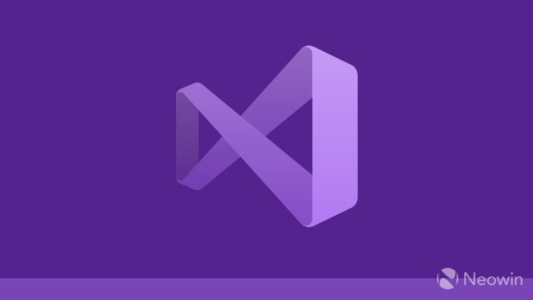 The Visual Studio logo on a purple background