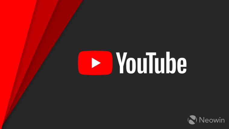 YouTube logo on a black and red background