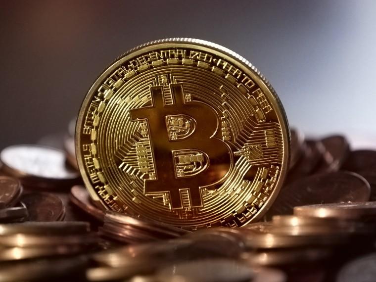 A big gold Bitcoin