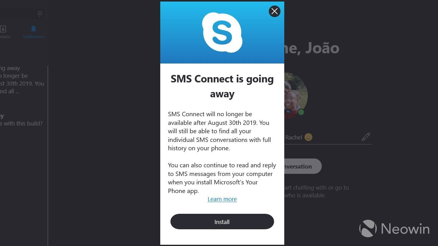 Microsoft is killing off Skype SMS Connect, making way for