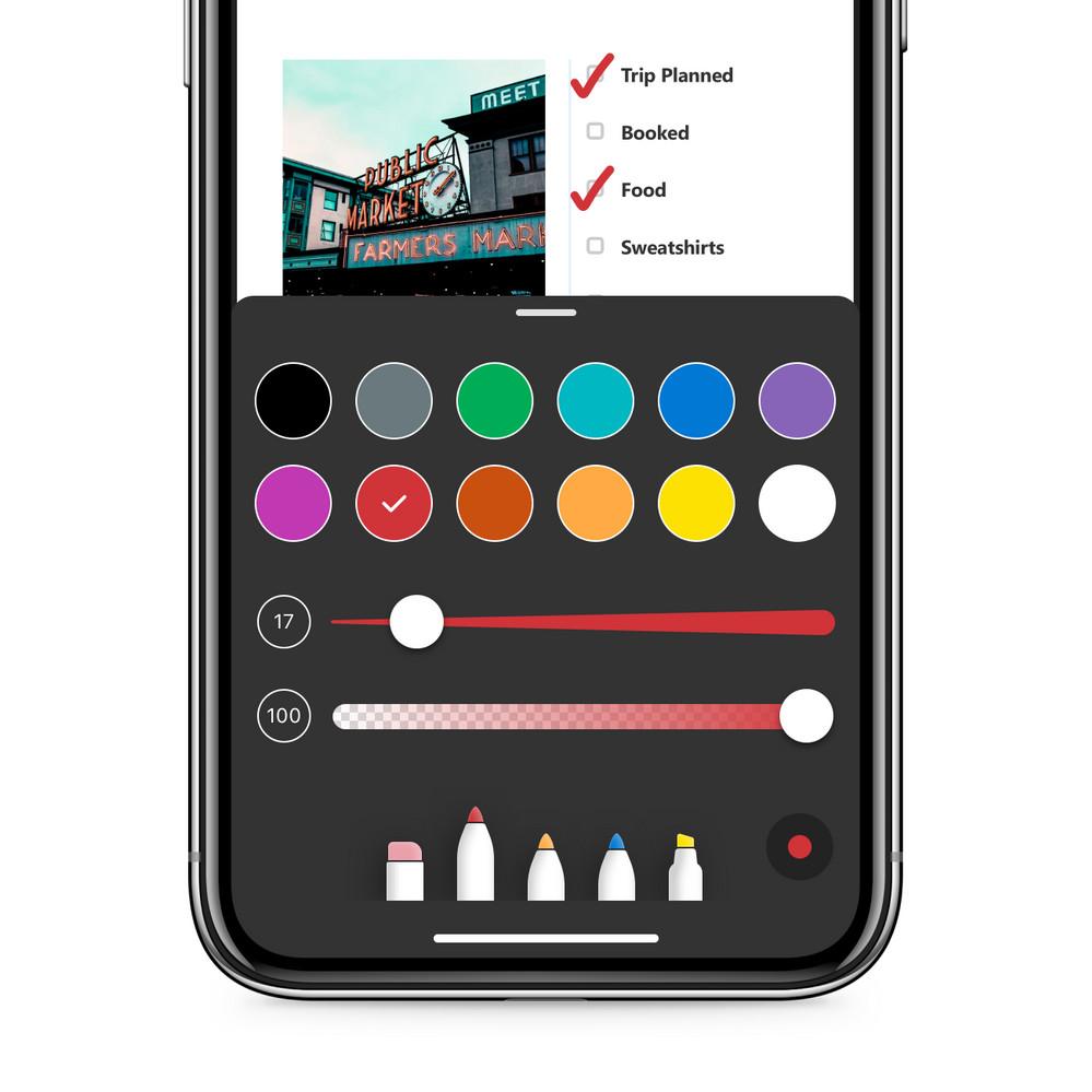 As notas agora são leves e fáceis de personalizar com o seletor de cores nativas.