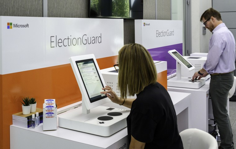 Microsoft Launches Pilot Program To >> Microsoft Demos New Electionguard Voting System Plans To Pilot The