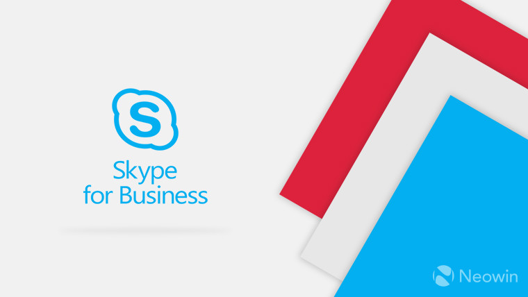 A Skype for Business logo on a light background with colored panels on the right