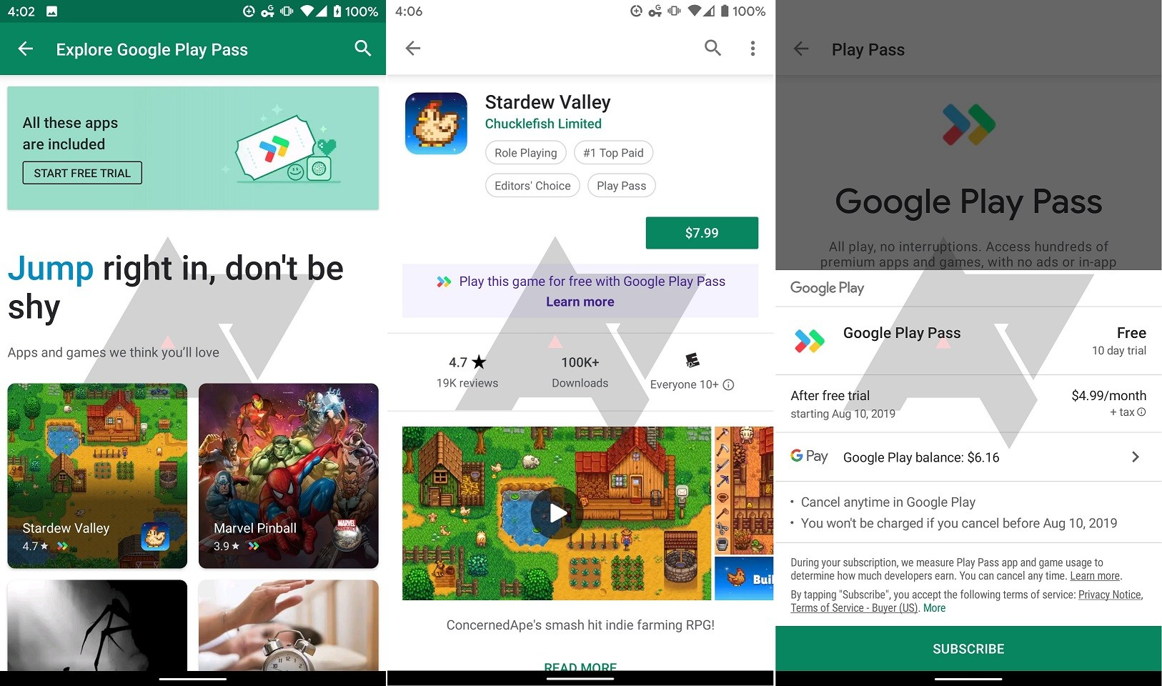 Google has been testing Play Pass subscription service behind the