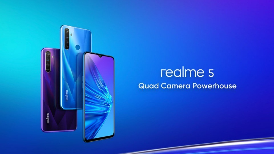 Realme 5 and 5 Pro unveiled in India with quad cameras, set