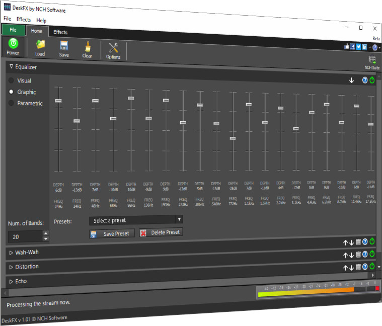 DeskFX Free Audio Enhancer Software