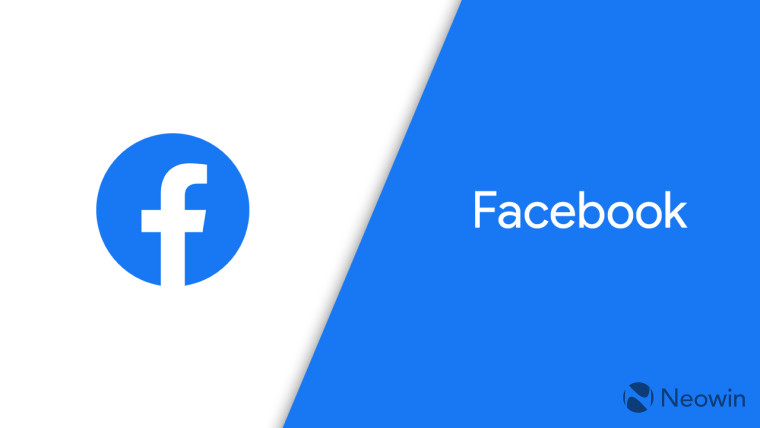 The facebook logo on a white and blue background