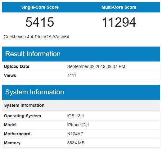 The first iPhone 11 benchmarks have leaked, showing modest