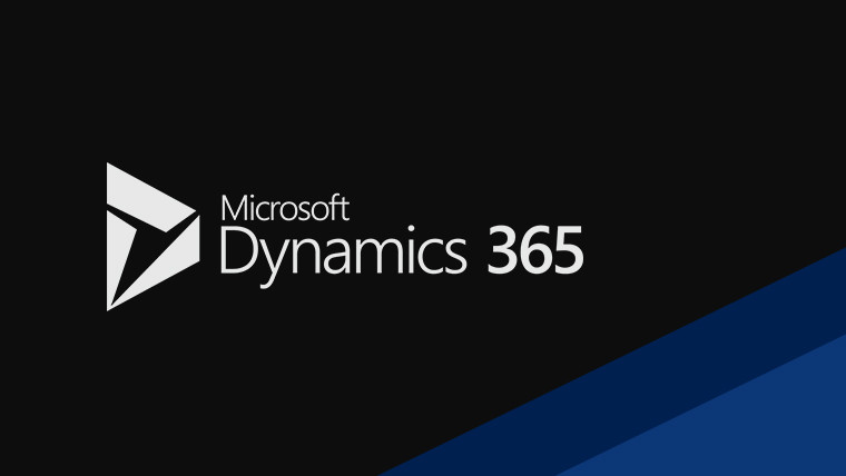 Microsoft Dynamics 365 logo and text image darkened on the left and moves to a lighter blue color on the right