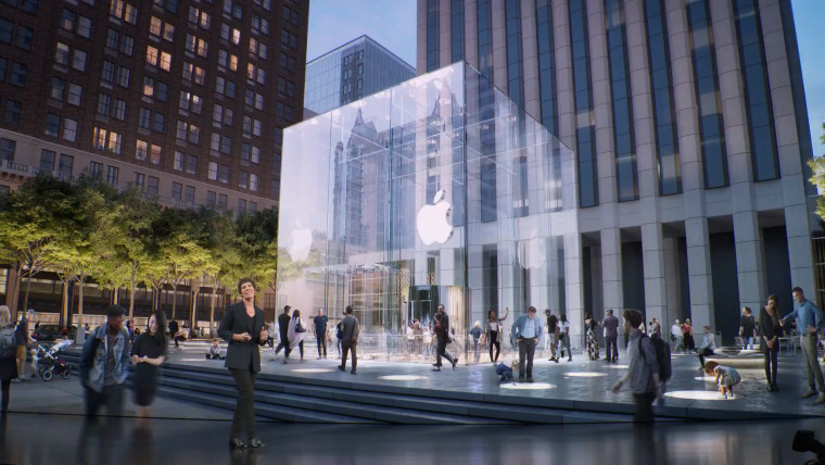 Entrance to an Apple Store