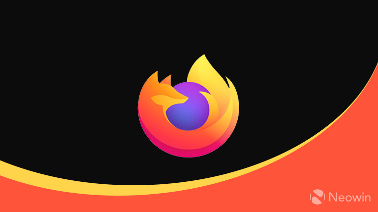 The Firefox logo on a black, yellow, and orange background