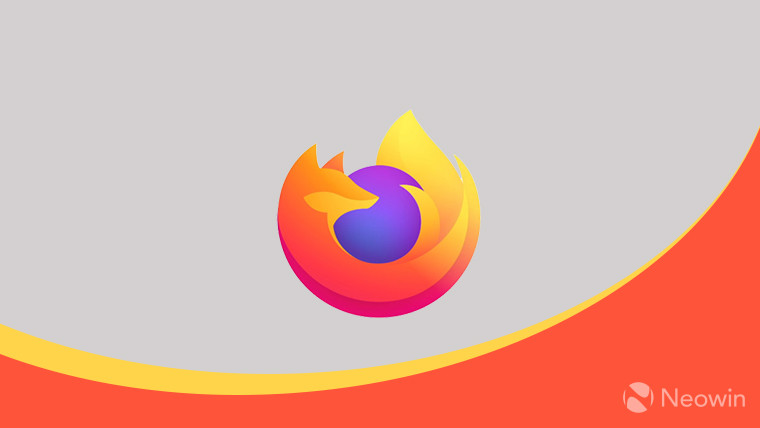 Firefox on grey and orange background
